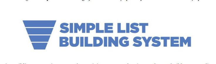 Simple List Building System Review  Easiest & Fastest Way To Build A Huge List Of Prospects & Customers In Any Market
