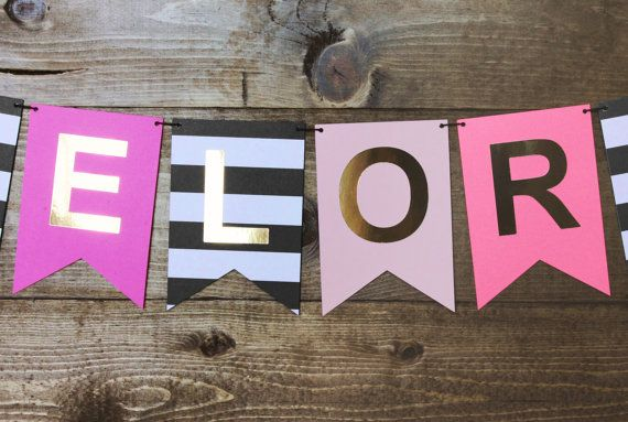 Every bachelorette party needs a banner! Add a classy, yet fun vibe with this Kate Spade inspired banner.  All banners are made with layers of