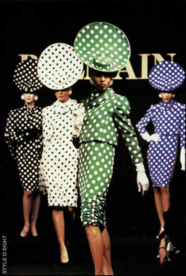 Balmain, 1987: Hats, Polka Dotty, Original Polka Dots, Vintage, Polkadots Balmain, 1980S, Balmain 1987, Fashion Dots