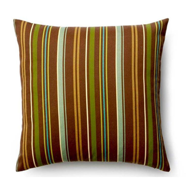 Thin Stripe Synthetic Throw Pillow