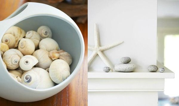 Decoreren met schelpen natuur gebruiken als huis decoratie interieur badkamer - Decoratie industriele huis ...