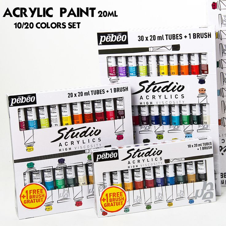 Professional 20ML Tube <b>Acrylic Paint Set</b> Colors Art Painting paint ...