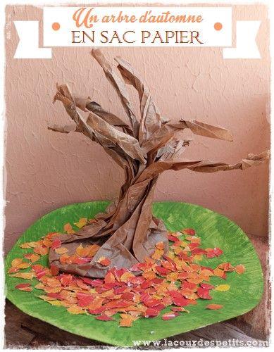 L'arbre en sac papier : un bricolage d'automne original