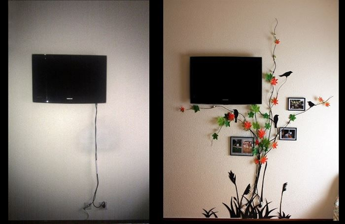 How to hide a TV cord - https://www.facebook.com/different.solutions.page