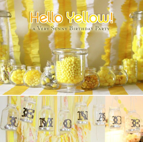 Yellow birthday party.  Possible 2nd Birthday?