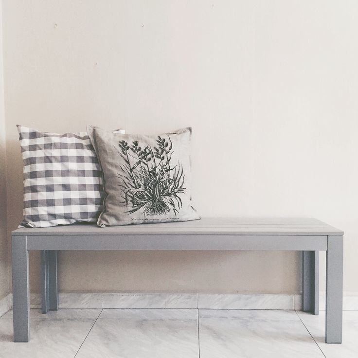 Ikea bench. Bringing the outdoor, indoor. #ikea #falster #homedecor #homeinspiration #bench
