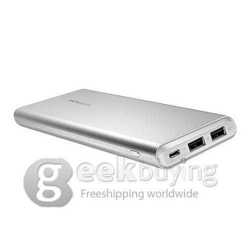 Image of [Wholesale UPS Free Shipping] 50 pcs Original ROMOSS GT1 10000mAh Dual USB Li-polymer Power Bank Mobile Power Charger - Silver