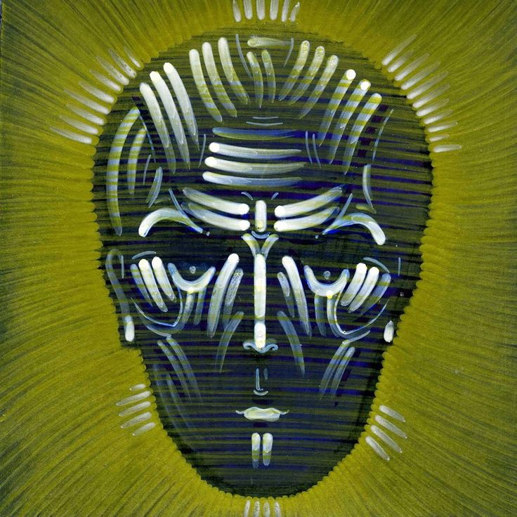 Face of Nobody / Sergii Radkevych / Paper / Permanent marker / Gold / White / Black / 15x15cm / 2014.