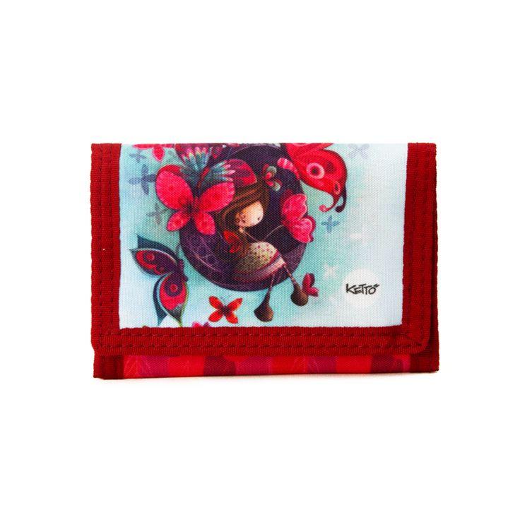 Portefeuille Souple Fannie KETTO Flexible Wallet Fannie // Fermeture en velcro. 6 espaces de rangement pour cartes. Pochettes pour monnaie et billets. // Velcro closure. 6 card compartments. Pocket for coins. Bill compartment. // #Portefeuille #Wallet #Ketto