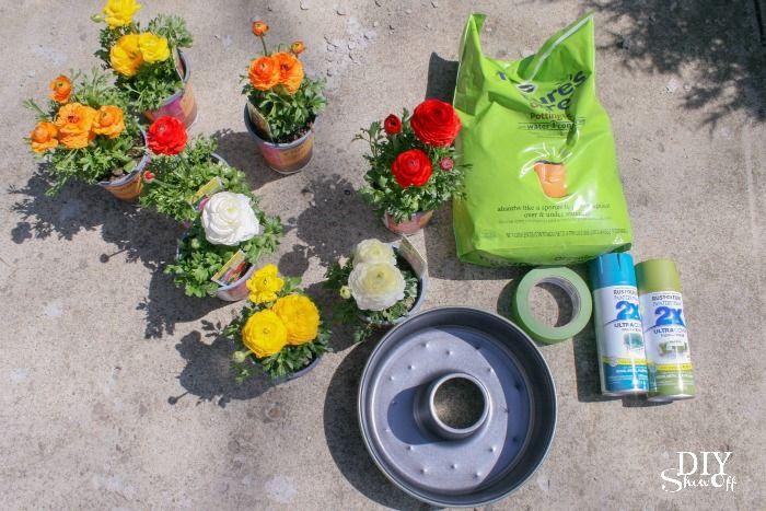 patio umbrella table centerpiece planter tutorial @diyshowoff