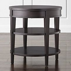 View larger image of Colette Round Side Table with Drawer.