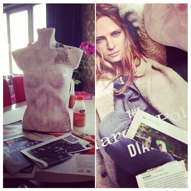Делаем Винтажный манекен ! #fashion #art #paper #манекен
