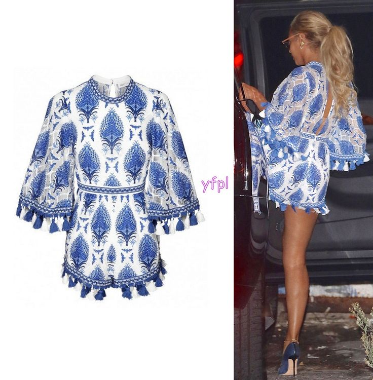 Beyoncé wore an  ALICE MCCALL Young Hearts Run Free Playsuit $272 in Los Angeles 21st September 2016