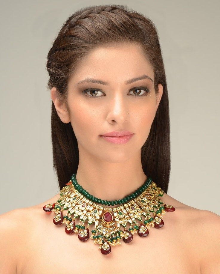 Rani Padmini Kundan Necklace by Just Jewellery