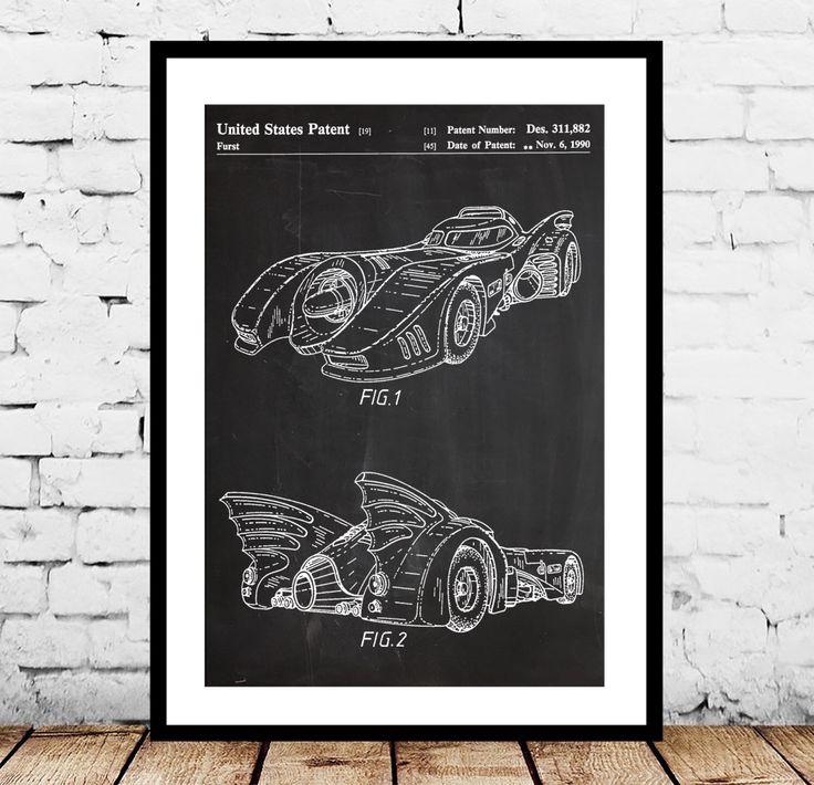 Batman Batmobile Print, Batman Batmobile Patent, Batman Batmobile Poster, Batman Batmobile Art, Batman Batmobile Decor, Batman Batmobile by STANLEYprintHOUSE on Etsy https://www.etsy.com/listing/231003475/batman-batmobile-print-batman-batmobile