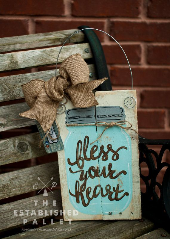 Bless Your Heart pallet sign by TheEstablishedPallet on Etsy