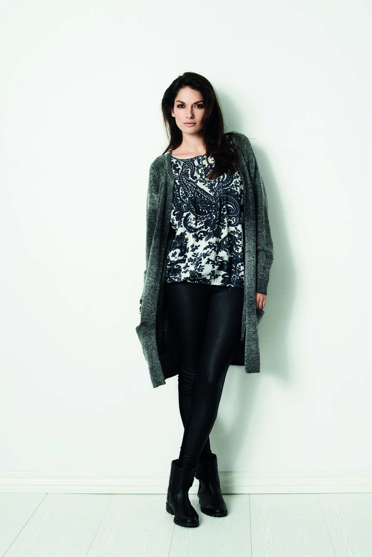 soyaconcept - cardigan - knit - shirt - blouse - pants - leatherpants - leather
