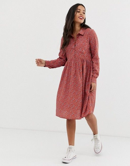 New Look Maternity shirt dress in red pattern in 2019  fca0fed2c