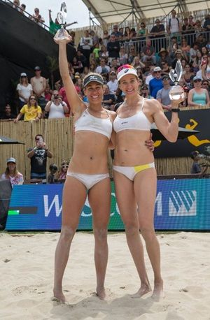 Kerri Walsh Jennings and April Ross win the 2016 AVP Huntington Beach Open!