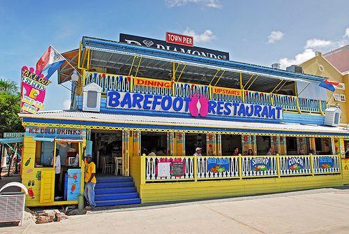 Barefoot Restaurant - Phillipsburg St.Maarten.  Mom and I like to eat breakfast here!