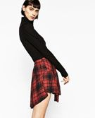THIS SKIRT LOOKS LIKE A FLANNEL SHIRT THAT IS TIED IN FRONT BY THE SLEEVES!!!   TIE-UP MINI SKIRT-TROUSERS | SKIRTS-WOMAN-SALE | ZARA United States