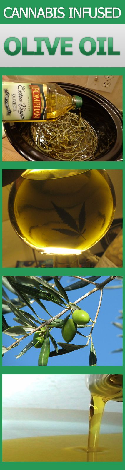 This recipe will teach you how to make your own cannabis infused olive oil. It seems like most people don't really know that you can make olive oil infused with cannabis as well. The olive oil is far healthier than butter, not to mention it won't go back on you and it's far easier to transport.