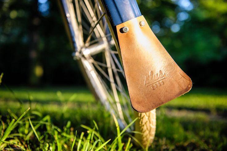 STUS-EGGO leather mudflap. Handmade in Czech Republic.