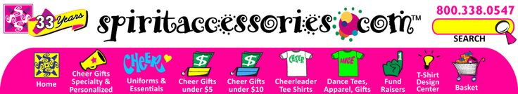 Spirit Accessories Cheerleading Specialty Tee Shirts Uniforms Cheer Gifts
