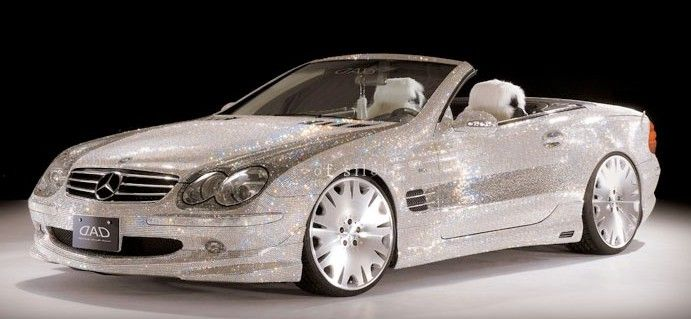 Swarovski Studded Mercedes SL600.. just two words- YES PLEASE