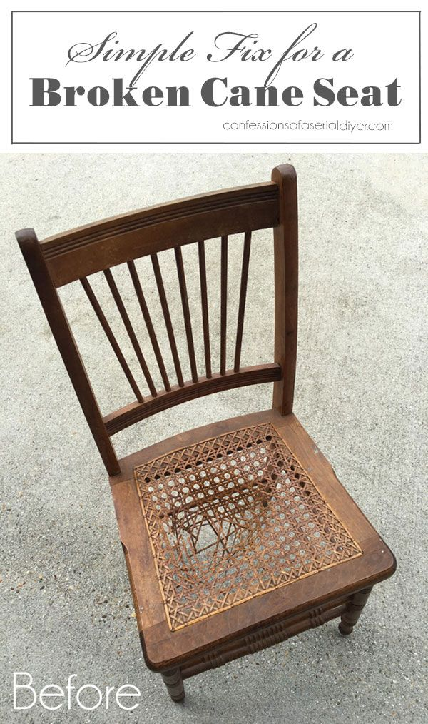 Simple Fix For A Broken Cane Seat Chair Repair Cane Chair Makeover Cane Chair