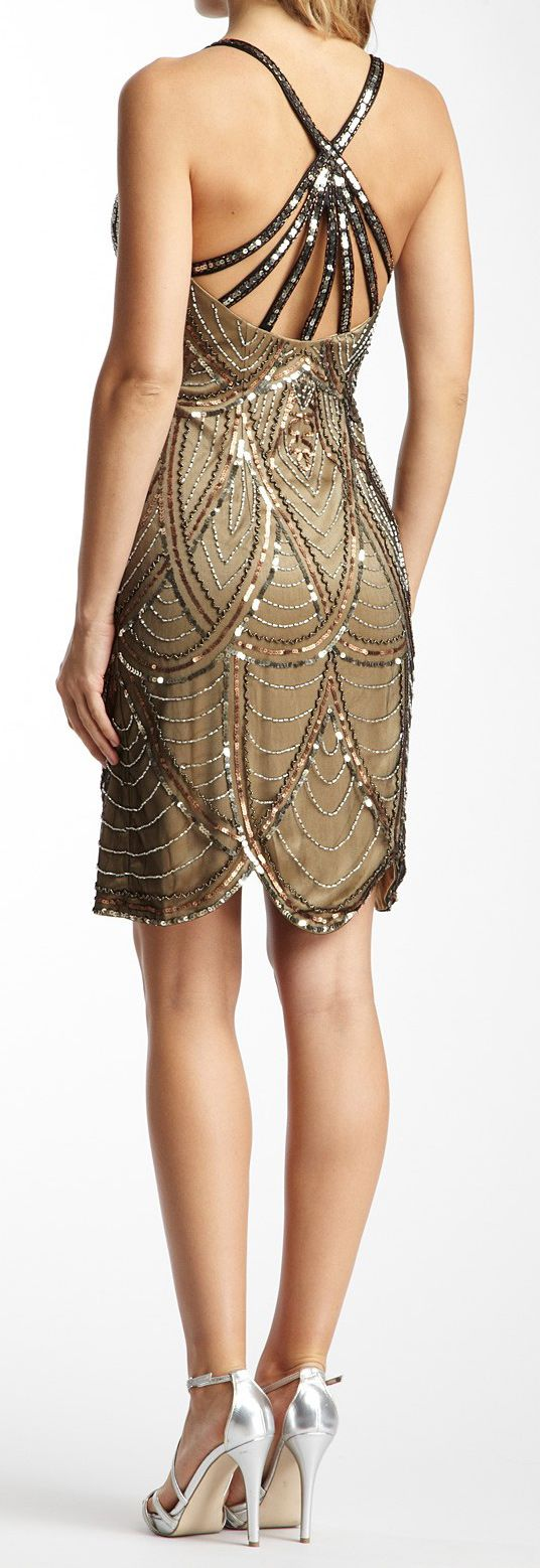 Deco sequined dress