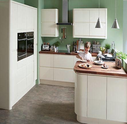 B Q Cooke Lewis Appleby Gloss Cream Handleless Kitchen Kitchen Compare Com Home