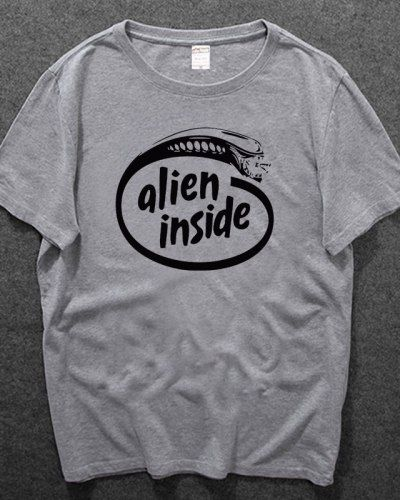 Prometheus 2 movie tshirts for men alien inside design