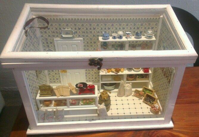 Dutch Delicatessen... My first attempt at a miniature shop by Sarah Harrison Mini-Shop Designs.