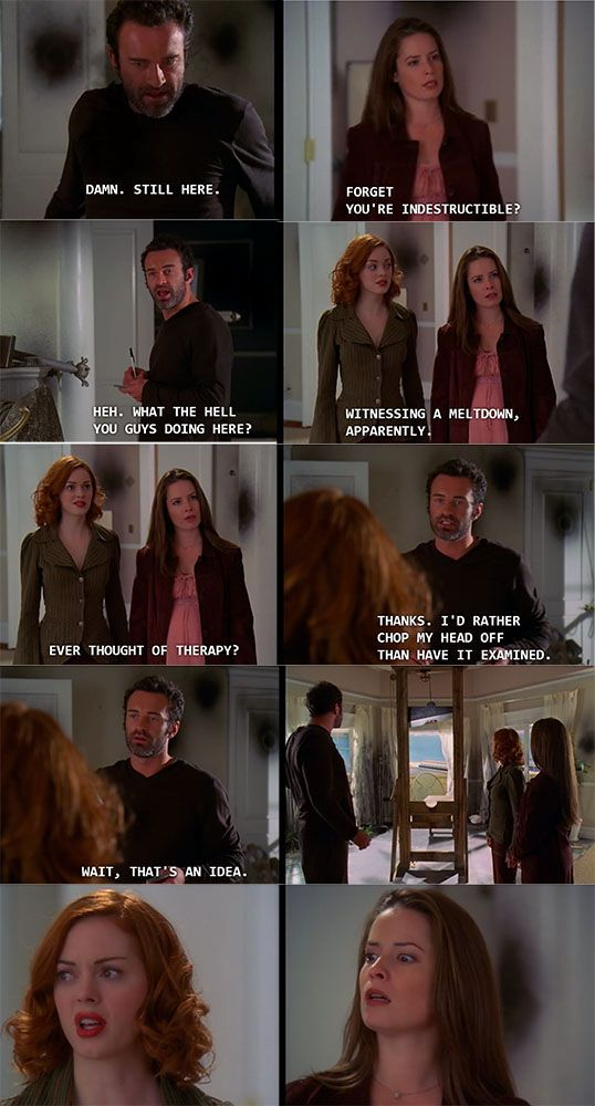 Charmed TV Show - Funny Cole moment when he's trying to destroy himself - Paige and Piper witness his melt down - S5 Ep9 with the mummy - holly marie combs and rose mcgowan