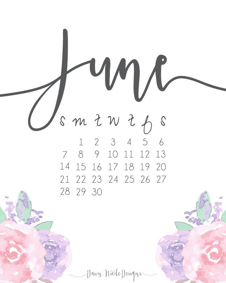 une 2017 calendar wallpaper