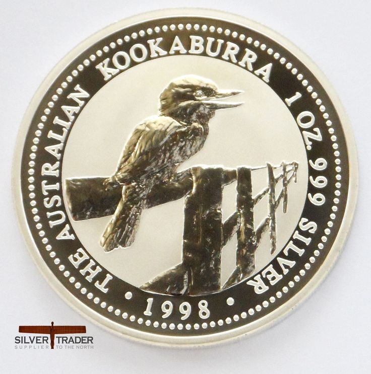 1998 Australian kookaburra 1 oz silver bullion coin (2)