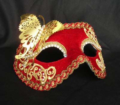 Colombina Traditional Venetian Mask Gold by AtelierMaregaMask
