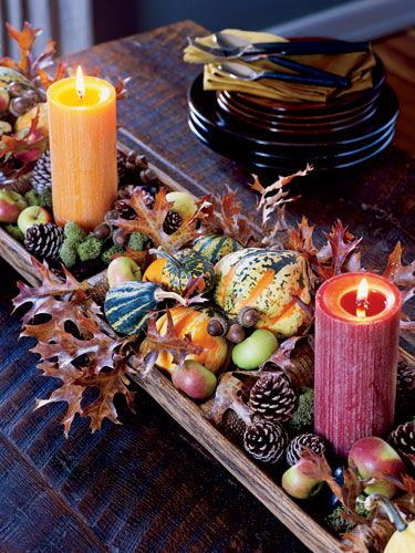 Find out how to make this harvest-themed centerpiece