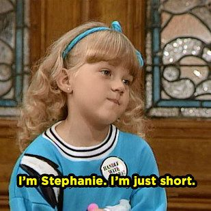 "When she kept it short and simple. | Community Post: 20 Times Stephanie Tanner Was The Baddest Bitch On ""Full House"""