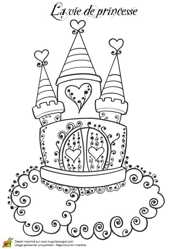 Les 108 meilleures images du tableau coloriage de princesses sur pinterest coloriage de - Coloriage chateau disney ...