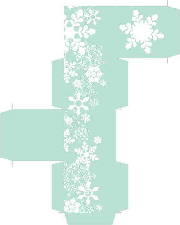 free printable snowflake box (2.25 inches.)