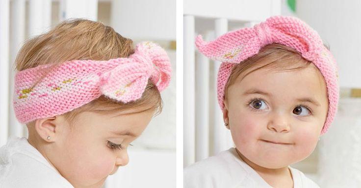 Hugs Knitted Baby Headband [FREE Knitting Pattern ...