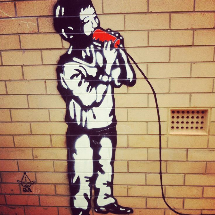 Geraldton street art - cup phones