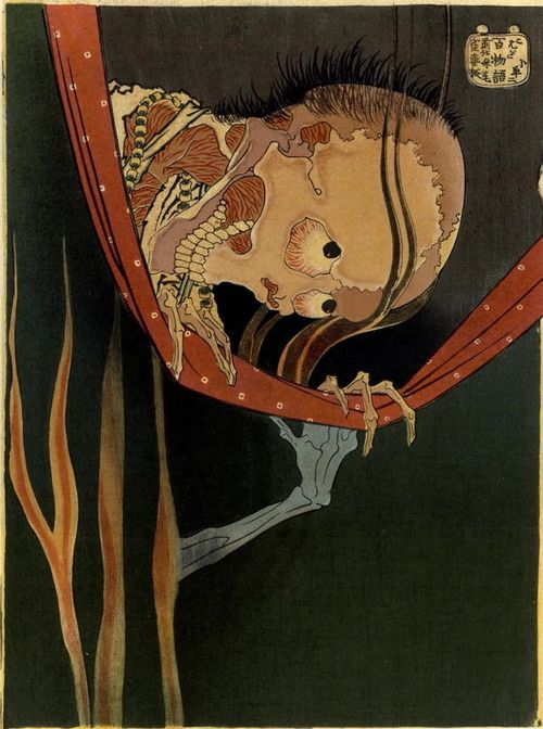 Ghost of Kohada Koheiji by Katsushika Hokusai Woodblock print,  1830, Japan