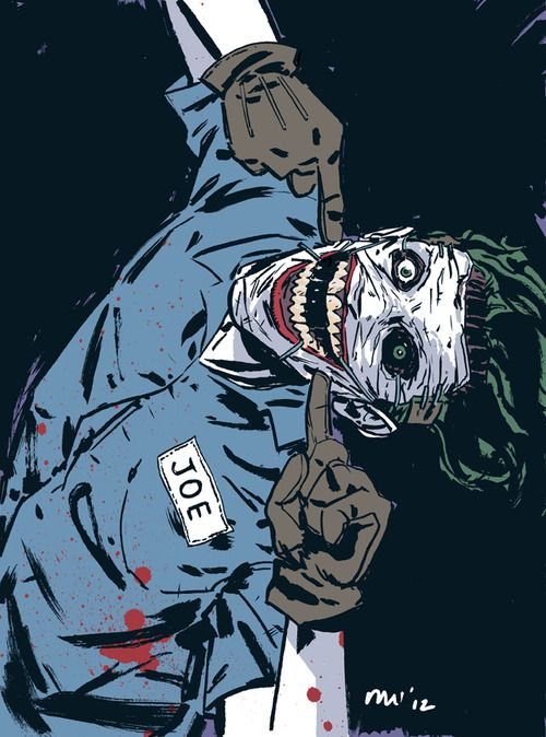 misterwalsh: Joker warm-up with colour. Laid down some quick colours on that new creepy creep of a Joker.