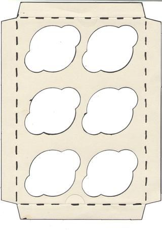cupcakes box base template