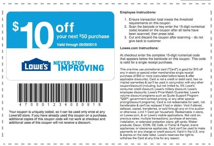How To Get Unlimited Lowe S Coupons To Save 10 Every Day Free Printable Coupons Lowes Coupon Coupons