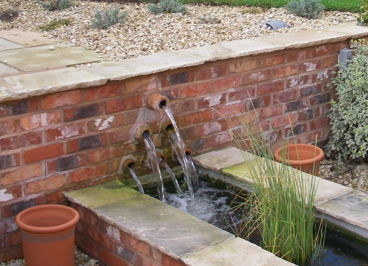 Water Garden For Retaining Ring : Best water feature in retaining wall images on