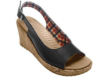 Crocs A-leigh Sling Womens Wedge Sandals-6,BLACK   7% OFF